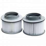 2x Wasserfilter für Whirlpool M-Spa M-009LS/019LS HWC-A62, Ersatzfilter Filterkartusche, Zubehör ~ Variantenangebot