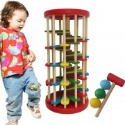 Niños Juguetes Bebe Juguetes Educativos, Juguetes De Madera Color Tocar Bola Fuera De La Escalera Cuadros Juguetes Intelligence Development
