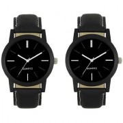 R P S fashion new collation Black To Black model combo pack of 2 men watch