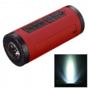 PINDO PD P-X6 Bicicleta Bluetooth Speaker & Power Bank - Rojo + Negro