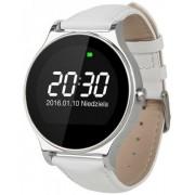 "Smartwatch Kruger&Matz Style, Ecran 1.22"", Bluetooth (Argintiu/Alb) + Cartela SIM Orange PrePay, 6 euro credit, 4 GB internet 4G, 2,000 minute nationale si internationale fix sau SMS nationale din care 300 minute/SMS internationale mobil UE"