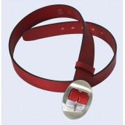 Skórzany pasek damski SAVONA, kolor czerwony