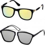 Stysol Wayfarer Sunglasses(Yellow, Silver)