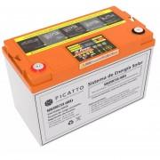 Kit De Energia Solar Ficatto 75a Sistema Integral Bateria