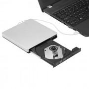 USB 2.0 portatil de CD ultrafino / DVD R / RW - blanco plateado