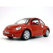 Volkswagen (Vw) New Beetle 1/25 Scale Diecast Metal Model Red