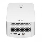 Мултимедиен проектор LG HF60LSR CineBeam, FHD (1920 x 1080), LED, 1400 ANSI Lumens, 150 000:1, HDMI, USB, RJ45, 2 x 3W, 24dB/21dB(A), бял, HF60LSR