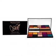 Makeup Revolution London X Carmi Eyeshadow & Highlighter cienie do powiek 27 g dla kobiet Kiss Of Fire