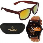 116-OW Red Mercury Wayfarer Sunglasses With Free Wake Wood Watch