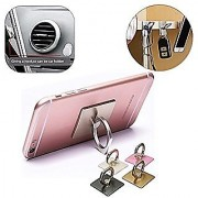 Universal -360 Rotate Metal Finger Ring Smartphones - Mobile Phone Holder -1 pc Assorted Colours(Gold Silver Black Pink)