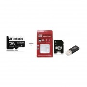 Micro Secure Digital De Alta Velocidad Con Adaptador De Tarjeta De Memoria Lector De Tarjetas Conjunto Negro