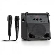 Rockstage Sistema de Som Karaoke Bluetooth CD CD + G USB MP3 AUX Bateria 2 x Microfone