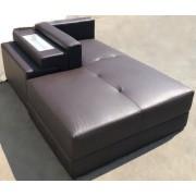 items-france MERIDIENNE SASSARI EXPO - Meridienne cuir newyork chocolat 194x112