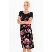 Womens Emerge Slip Dress & Tee Set - Palm Print T-Shirt