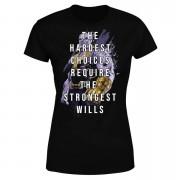 Avengers The Strongest Will Women's T-Shirt - Black - XXL - Black