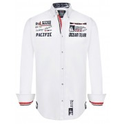 Giorgio Di Mare Worked Long Sleeved Shirt White GI4515302
