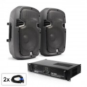 "Set audio ""SPJ Boom MKII"" coppia casse e amplificatore 8"" 800W"