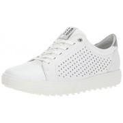 """ECCO Zapatillas de Golf para Mujer, Estilo Casual, h""""bridas, 2 Perforadas, Blanco, 37 EU/6-6.5 M US"""
