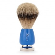 Baxter Of California Blue Silver Tip Badger Hair Shave Brush BRU14