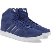 ADIDAS NEO HOOPS TEAM MID Sneakers For Men(Blue, White)