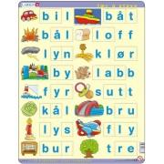 Puzzle Larsen - Learn to spell Norwegian, 23 piese (48689)