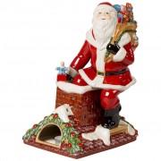 Villeroy & Boch Christmas Toy's Memory Père Noël sur le toit, rouge/multicolore, 23,5 x 17 x 32 cm