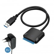 SATA to USB 3.0 2.5/3.5 inch HDD SSD Hard Drive Disk Converter Cable Adapter - EU Plug