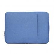 Sac à bandoulière portatif pour ordinateur portable portable de 15,4 pouces Sac à bandoulière portatif portable pour ordinateur portable MacBook Air / Pro, Lenovo et autres ordinateurs portables, taille: 39,2x28,5x2cm (bleu)