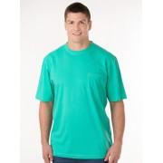 Lowes Plain Crew Neck Tee Shirt - Aqua Marle XL