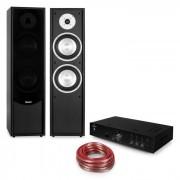 Auna Linie-300 Juego Hi-Fi Bluetooth Amplificador Altavoces de torre pasivos negro