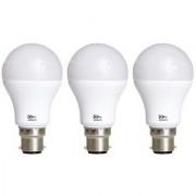 Alpha B22 9-Watt LED Bulb (Pack of 3 Cool Day Light)