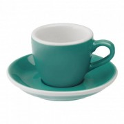 "Loveramics Filiżanka ze spodkiem espresso Loveramics ""Egg Teal"", 80 ml"