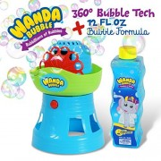 Gordon & Bond Bubble Machine By Wanda Bubble: 360 Degree Blower For Kids, Shoots Bubbles In All Directions, 100'S Per Minute Battery Operated - With Solution Outdoor Parties