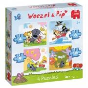 Puzzel Woezel & Pip 4 In 1
