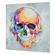 [art.work] Ručně malovaný obraz - smrtka 2 - plátno napnuté na rámu - 100x100x3,8 cm