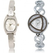 The Shopoholic Silver Combo Latest Fashionable Silver Dial Analog Watch For Girls Watch For Girl