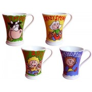 Anykam Fine Bone Porzellan Tasse Kaffetasse Milchtasse Teetasse 5442 Shopping 4-er Set