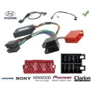 COMMANDE VOLANT Hyundai H1 2.5 CRDI connecteur rectangulaire - Pour JVC complet avec interface specifique