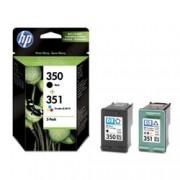 ORIGINAL HP Multipack nero / differenti colori SD412EE 350 + 351 inchiostro: HP 350 - CB335EE + HP 351 - CB337EE