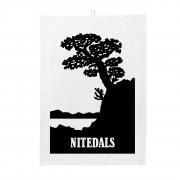 Nitedals Design Nitedals Kökshandduk Svartvit 50x70 cm
