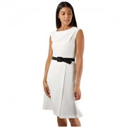 Closet London Rochie pentru femei Rochie A-line rochie cu curea Black White XXL