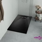 vidaXL Kada za tuš SMC crna 90 x 80 cm