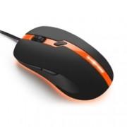 Мишка Sharkoon Shark Force PRO Gaming, оптична 3200 DPI, USB, черно/оранжева, LED подсветка