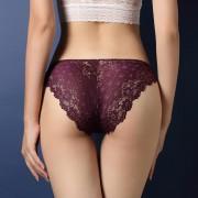 V&V Dámské krajkové kalhotky - Calcinha (fialová barva) - V&V