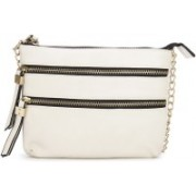 Call It Spring Women Casual White Genuine Leather Sling Bag