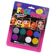 Segolike 8 Colors Face Paint Body Painting Palette Set for Party Stage Makeup Pro #B