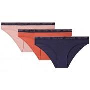 Tommy Hilfiger Lenjerie intimă pentru femei Set 3P Bikini UW0UW00043 -077 Rose Tan / Mecca Orange / Navy Blazer L