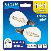 Garza Esférica Pack 2 Lâmpadas com Filamento LED 4W E14 Branco Frio