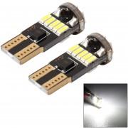 MZ 2 Pcs DC 12V 2W 5500K T10-4014-15smd Auto - Limpieza Ancho Lámpara Luz Luces De Estacionamiento (luz Blanca)