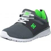 DC Shoes Dc Kids Heathrow Shoe Grey/White/Green, Skor, Sneakers & Sportskor, Löparskor, Grå, Blå, Unisex, 29